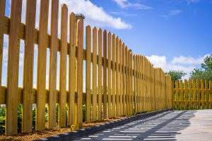 wood picket fence installation troy illinois